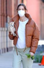 Pregnant HILARY RHODA Wearing Mask Out with Sean Avery in New York 04/07/2020
