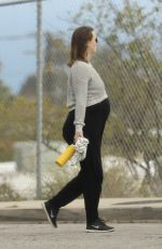 Pregnant LEIGHTON MEESTER Out and About in Los Angeles 04/02/2020