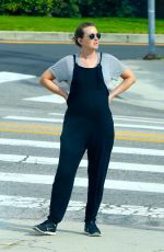 Pregnant LEIGHTON MEESTER Out in Los Angeles 04/01/2020