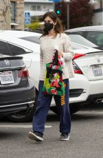 RANEY QUALLEY Wearing a Mask at Vons Market in Los Angeles 04/10/2020