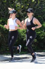 REESE WITHERSPOON and AVA PHILLIPPE Out Jogging in Brentwood 04/11/2020