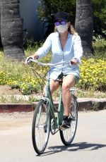 REESE WITHERSPOON Out for Bike Ride in Malibu 04/26/2020
