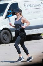 REESE WITHERSPOON Out Jogging in Brentwood 04/02/2020