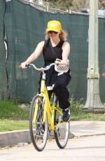REESE WITHERSPOON Out Riding Bike in Pacific Palisades 03/31/2020