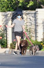 REESE WITHERSPOON Out with Her Dog in Brentwood 04/27/2020