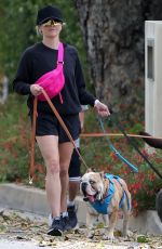 REESE WITHERSPOON Out with Her Dogs in Pacific Palisades 04/06/2020