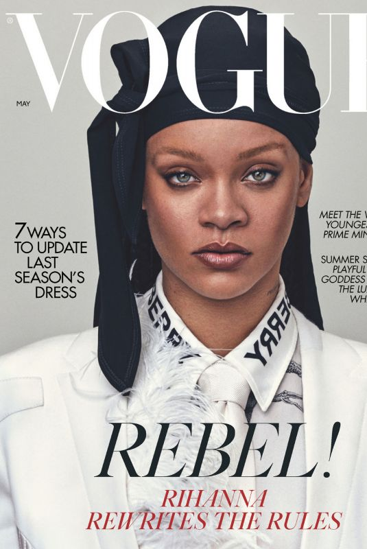 RIHANNA in Vogue Magazine, UK May 2020
