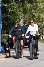 ROBIN WRIGHT and Clement Giraudet Out Riding Bikes with Their Dog in Pacific Palisades 04/21/2020