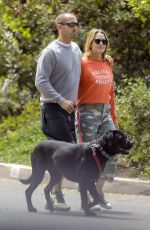 ROBIN WRIGHT and Clement Giraudet Out with Their Dog in Santa Monica 04/28/2020