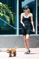 ROOSMARIJN DE KOK and Jamison Ernest Out with Her Dog in Miami 03/31/2020