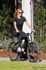 ROSIE HUNTINGTON-WHITELEY Out Riding Bike in Beverly Hills 04/22/2020