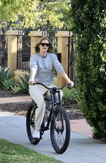 ROSIE HUNTINGTON WHITELEY Out Riding Bike in Los Angeles 04/01/2020