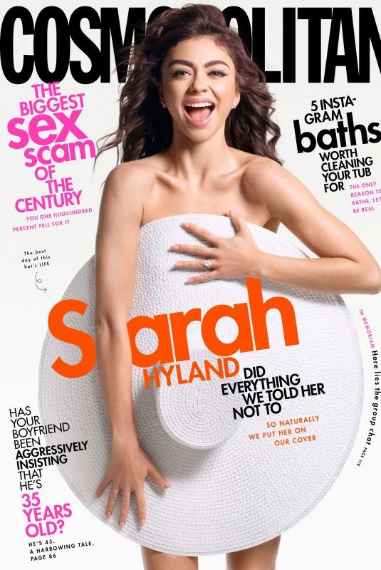 SARAH HYLAND in Cosmpolitan Magazine, May 2020