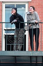 SARAH SILVERMAN at Her Balcony in New York 04/27/2020