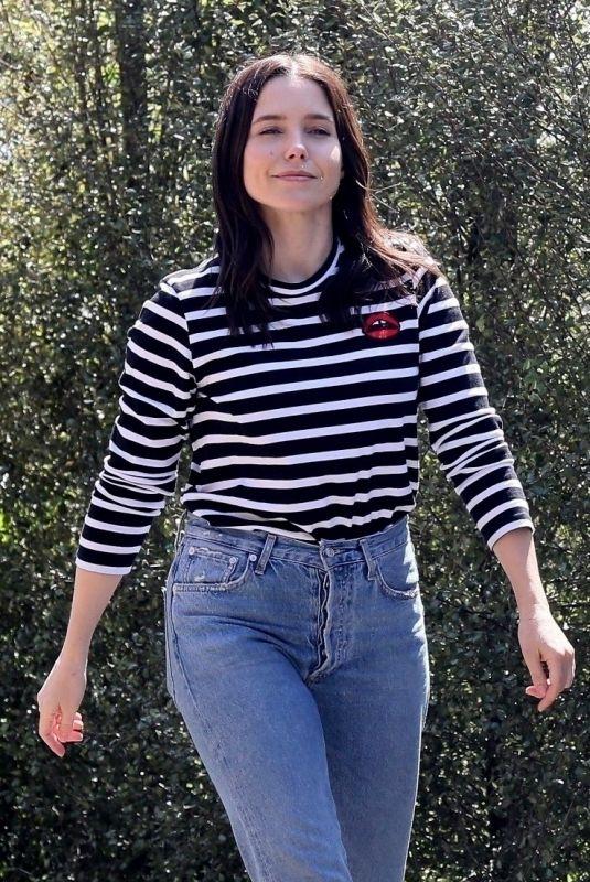 SOPHIA BUSH in Denim Out in West Hollywood 04/03/2020