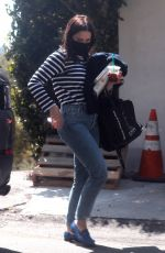 SOPHIA BUSH Wearing Mask Out in Hollywood 04/03/2020