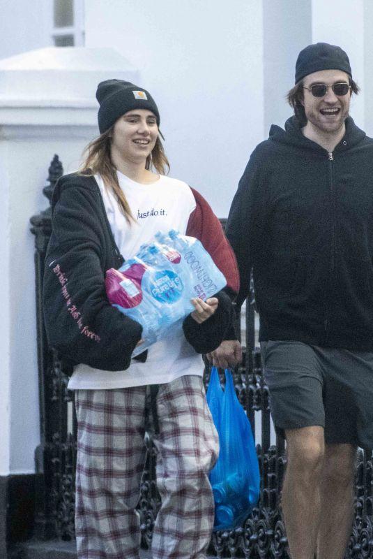 SUKI WATERHOUSE and Robert Pattinson Out Shopping in London 04/15/2020