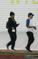 TYRA BANKS and Louis Belanger-Martin Out for Breakfast in Los Angeles 04/01/2020