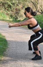 YAZMIN OUKHELLOU Workout at a Park in Essex 04/12/2020