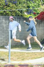 ABBY CHAMPION and Patrick Schwarzenegger Out Jogging in Brentwood 05/14/2020