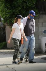 ALYSON HANNIGAN and Aexis Denisof Out Shopping in Los Angeles 04/29/2020