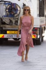 AMANDA HOLDEN Arrives at Global Radio in London 05/19/2020
