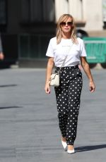 AMANDA HOLDEN in a Polka Dot Trousers Leaves Heart Radio in London 05/14/2020