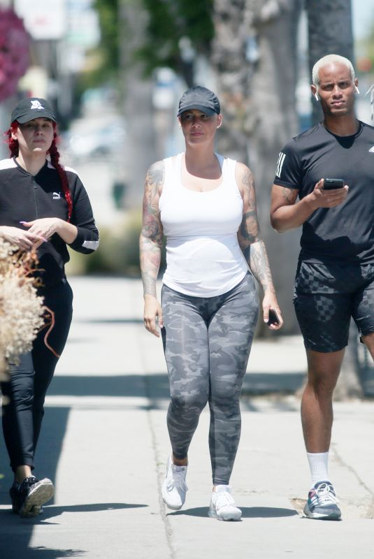 AMBER ROSE Out and About in Studio City 05/14/2020
