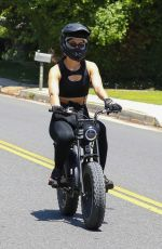 AMELIA HAMLIN Riding Her Electronic Bike Out in Beverly Hills 05/23/2020