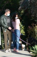 ANA DE ARMAS and Ben Affleck Out with Their Dog in Los Angeles 05/18/2020
