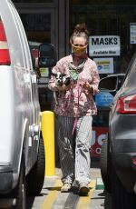 ANDIE MACDOWELL Out with Her Dog in Los Angeles 05/15/2020