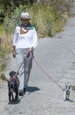 ANDIE MACDOWELL Out with Her Dog in Los Angeles 05/21/2020