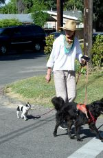 ANDIE MACDOWELL Out with Her Dogs in Los Angeles 05/07/2020