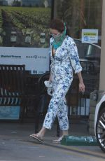 ANDIE MACDOWELL Wearing Bandana Mask Out in Los Angeles 05/27/2020