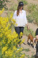 ANGELA SARAFYAN Out Hiking with Her Dog in Studio City 05/09/2020