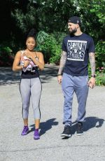 ARIANE ANDREW and Vincent Isayan Hiking at Fryman Canyon 05/07/2020