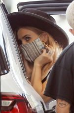 ASHLEE SIMPSON at a Gas Station in Los Angeles 05/11/2020
