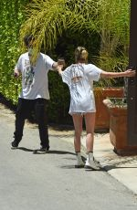 ASHLEY BENSON Outside Her House in Los Angeles 05/21/2020