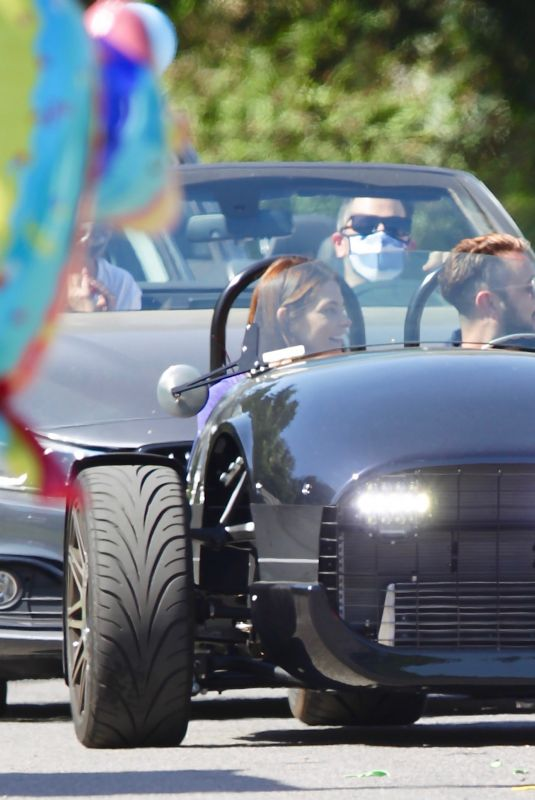 ASHLEY GREENE and Paul Khoury at Drive-by Birthday Parade for Riawna Capri in Los Angeles 05/03/2020