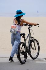 BAI LING in Ripped Denim Out in Santa Monica 05/12/2020