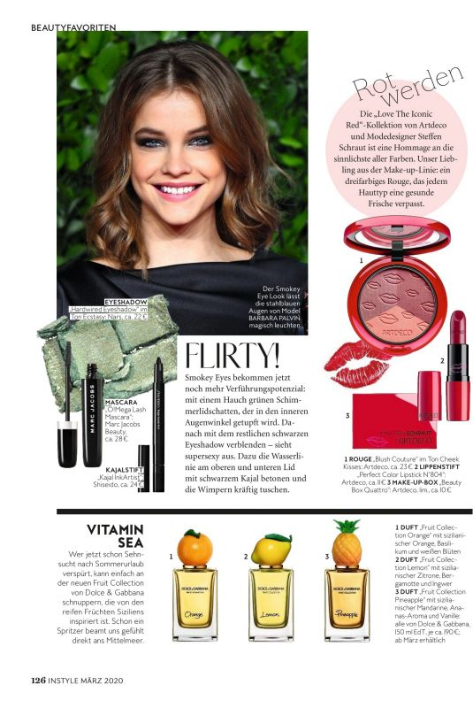 BARBARA PALVIN in Instyle Magazine, Germany March 2020