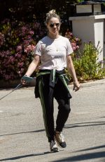 BECCA TOBIN Out with Her Dog in Los Angeles 04/11/2020