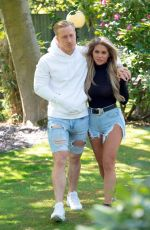 BIANCA GASCOIGNE and Kris Boynson Out in Kent 05/18/2020