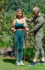BIANCA GASCOIGNE Working Out at a Park in Gravesend 05/25/2020