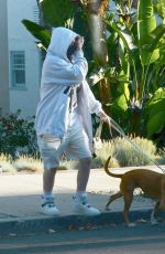BILLIE EILISH and Finneas Out with Their Dog in Los Angeles 05/28/2020