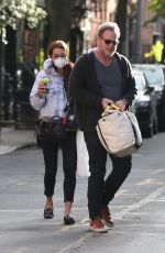 BROOKE SHIELDS Wearing a Mask Out in New York 05/12/2020