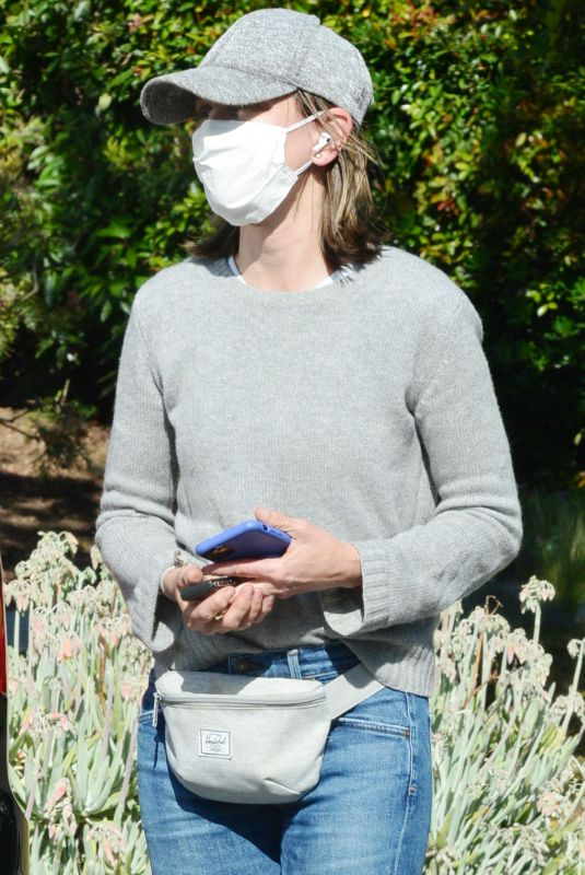 CALISTA FLOCKHART Wearing Mask Out in Santa Monica 05/18/2020