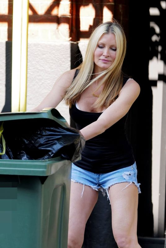 CAPRICE BOURRET in Denim Shorts Taking Out Trash in London 05/04/2020