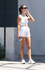 CARA SANTANA in Shorts Getting Her Car Serviced in Los Angeles 05/22/2020