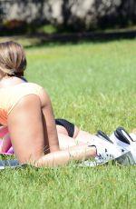 CARMEN VALENTINA and DONNA BELLA at a Park in Miami 05/24/2020